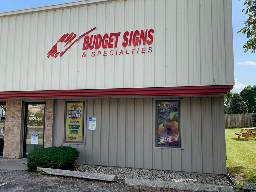 Budget Signs & Specialties storefront in Madison, Wisconsin